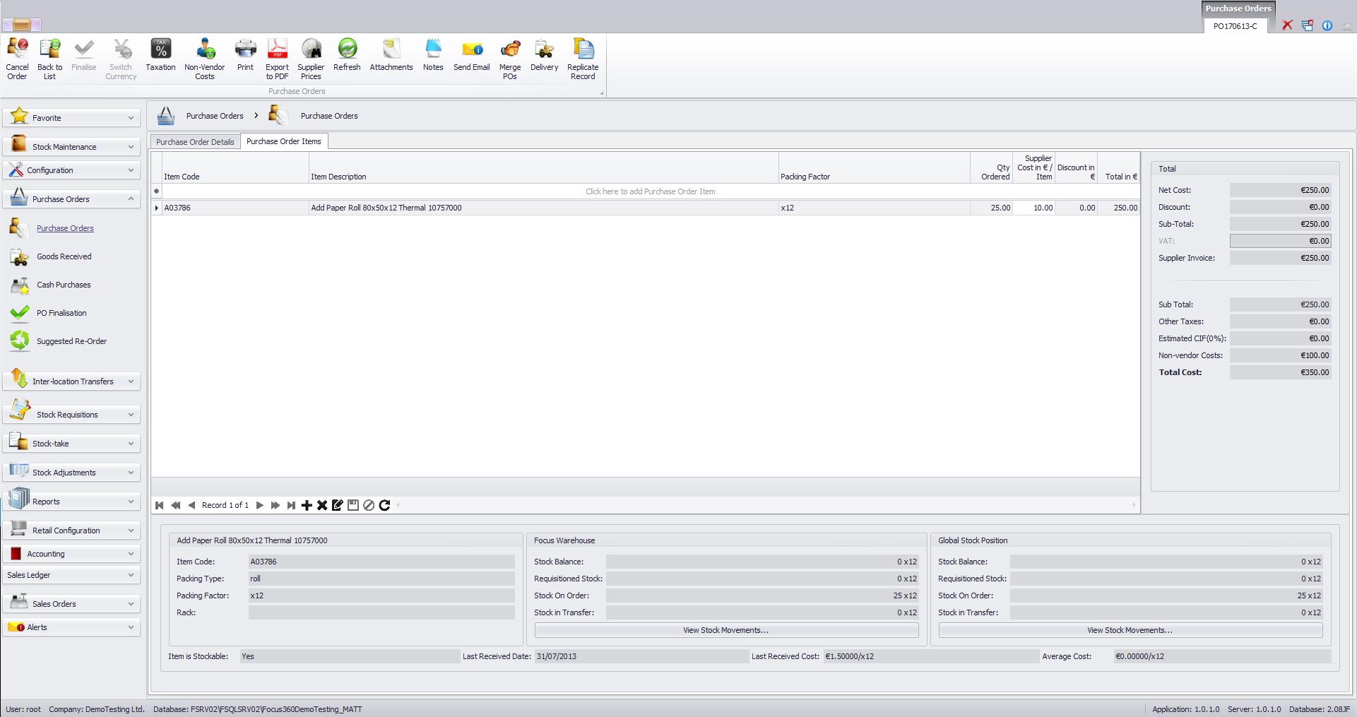 Inventory Management Software - Focus 360 Focus Software
